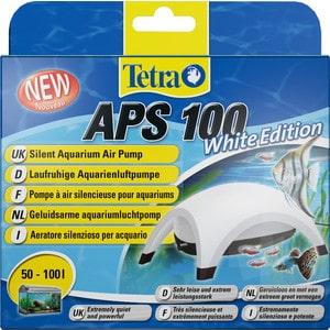 Компрессор Tetra APS 100 Silent Aquarium Air Pomp White Edition для аквариумов 50-100л (белый)