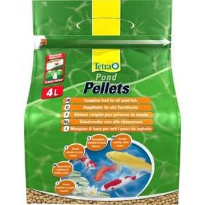 Корм Tetra Pond Pellets Complete Food for All Pond Fish плавающие шарики для прудовых рыб 4л корм tetra malawi flakes complete food for east african cichlids хлопья с водорослями для восточно африканских цихлид 1л