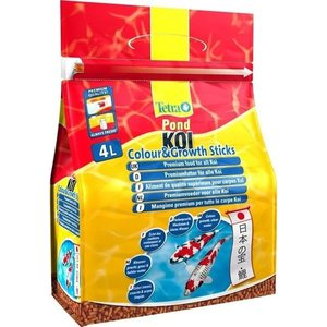 Корм Tetra Pond Koi Color & Growth Sticks Premium Food for All Koi палочки для улучшения окраса и роста кои 4л корм tetra pond sticks complete food for all pond fish палочки для прудовых рыб 50л