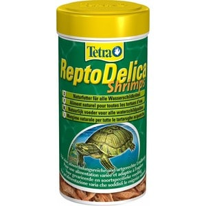 Корм Tetra ReptoDelica Shrimps Natural Food for All Water Turtles креветки для всех видов водных черепах 1л корм tetra malawi flakes complete food for east african cichlids хлопья с водорослями для восточно африканских цихлид 1л