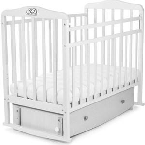 Кроватка Sweet Baby Luciano Bianco (Белый) (392624) детская кроватка sweet baby eligio bianco белый 385 674