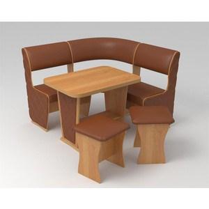 Кухонный уголок Маэстро Консул Мини Лайт ольха/коричневый с накладками кухонный уголок трия амиго ольха кожзам коричневый бежевый