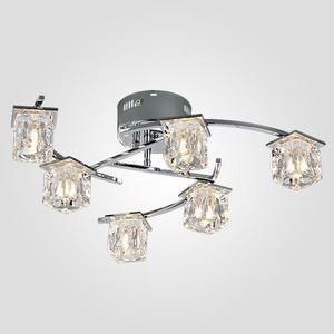 Потолочная люстра Eurosvet 80105/6 хром потолочная люстра silverlight spark 206 53 6