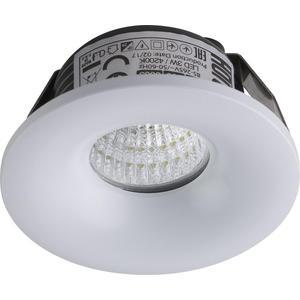 Встраиваемый светодиодный светильник Horoz 3W 4200К белый 016-036-0003 встраиваемый светодиодный светильник horoz 15w 6000к белый 016 017 0015 hl6756l