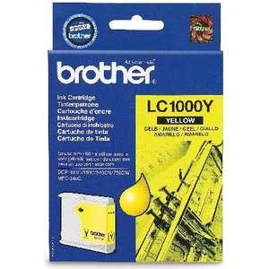 Brother LC1000Y картридж brother струйный lc1000y yellow for dcp 130 330