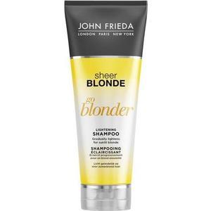 John Frieda Sheer Blonde Go Blonder Шампунь осветляющий для натуральных, мелированных и окрашенных волос 250 мл john frieda кондиционер осветляющий для натуральных мелированных и окраш волос sheer blonde go blonder 250 мл