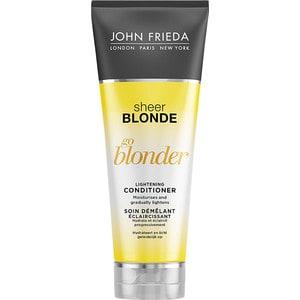 John Frieda Sheer Blonde Go Blonder Кондиционер осветляющий для натуральных, мелированных и окрашенных волос 250 мл john frieda кондиционер осветляющий для натуральных мелированных и окраш волос sheer blonde go blonder 250 мл