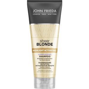 John Frieda Sheer Blonde Увлажняющий активирующий шампунь для светлых волос 250 мл john frieda кондиционер осветляющий для натуральных мелированных и окраш волос sheer blonde go blonder 250 мл