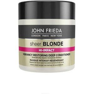 John Frieda Sheer Blonde HI-IMPACT Маска для восстановления сильно поврежденных волос 150 мл john frieda sheer blonde прозрачный лак для создания формы и сияния светлых волос sheer blonde прозрачный лак для создания формы и сияния светлых волос