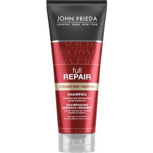 John Frieda Full Repair Укрепляющий + восстанавливающий шампунь для волос 250 мл teotema шампунь восстанавливающий 250 мл