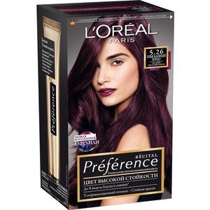 L'OREAL Preference Краска для волос тон 5.26 Изысканный бордо l oreal preference краска для волос тон 5 26 изысканный бордо