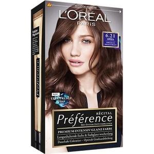 L'OREAL Preference Краска для волос тон 6.21 Перламутровый светло-каштановый