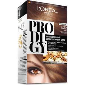 L'OREAL Prodigy Краска для волос тон 6.32 орех l oreal prodigy краска для волос тон 3 0 темный шоколад