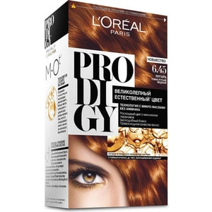 L'OREAL Prodigy Краска для волос тон 6.45 янтарь l oreal prodigy краска для волос тон 3 0 темный шоколад