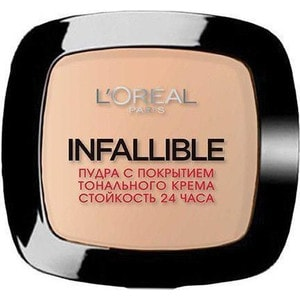 L'OREAL PERFECTION Infaillible Пудра для лица тон 123 Теплый ванильный пудра для лица тон 6 yz пудра для лица тон 6