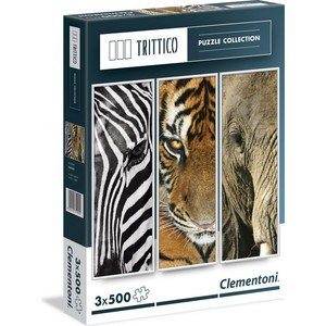 Пазл Clementoni Trittico Животные 3х500 (39307 )