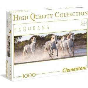 Пазл Clementoni Панорама. Белые лошади 1000 (39371)
