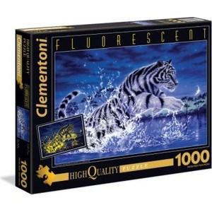 Фотография товара пазл Clementoni Флуоресцентный. Прыжок тигра 1000 (39354) (708722)