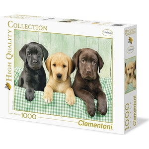 Пазл Clementoni HQ Щенки лабрадора 1000 (39279) купить щенка палевого лабрадора в москве