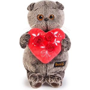 Фото Мягкая игрушка Budi Basa Басик с красным сердечком 25 см (Ks25-060 )