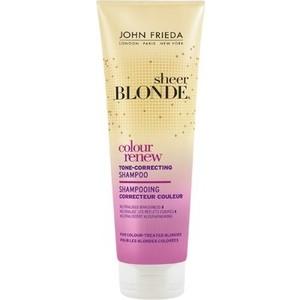 John Frieda Sheer Blonde COLOUR RENEW Шампунь для восстановления и поддержания оттенка осветленных волос 250 мл john frieda кондиционер осветляющий для натуральных мелированных и окраш волос sheer blonde go blonder 250 мл