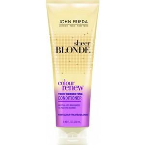 John Frieda Sheer Blonde COLOUR RENEW Кондиционер для восстановления и поддержания оттенка осветленных волос 250 мл john frieda кондиционер осветляющий для натуральных мелированных и окраш волос sheer blonde go blonder 250 мл