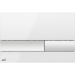 Клавиша смыва AlcaPlast белая (M1730)