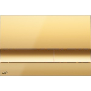 Клавиша смыва AlcaPlast золотая (M1725) клавиша смыва geberit sigma 50 белый хром 115 788 11 5