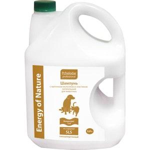 Шампунь Pchelodar Professional Energy of Natural питательный с маточным молочком и эластином для для животных 5л energy
