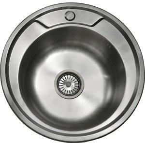 Кухонная мойка Pegas 49 0,6 шлифованный глянцевый (490W ст)