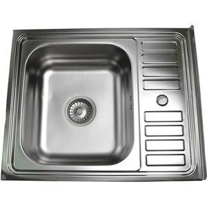 Кухонная мойка Pegas 60х50 накладная, матовая (6050W мт)