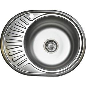Кухонная мойка Pegas 57х45 0,6 левая, шлифованный глянцевый (5745W L ст) шина yokohama parada spec x pa02 245 45 r20 99v