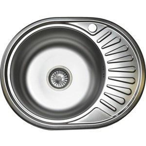 Кухонная мойка Pegas 57х45 0,6 правая,шлифованный глянцевый (5745W R ст)