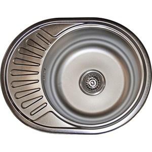 Кухонная мойка Pegas 57х45 0,6 универсальная, шлифованный глянцевый (5745W U ст)