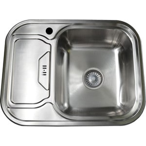 Кухонная мойка Pegas 63х49 0,6 левая, шлифованный глянцевый нерж.ст. (6349 W L ст)