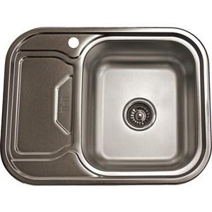 Кухонная мойка Pegas 63х49 0,6 левая, матовая (6349W L мт)