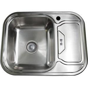 Кухонная мойка Pegas 63х49 0,6 правая, шлифованный глянцевый, (6349W R ст) диск шлифованный d51мм ivanko om 5kg оливковый