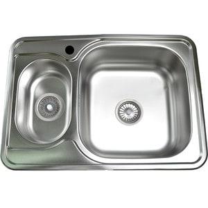 Кухонная мойка Pegas 70х50 0,6 матовая, двойная (7050W мт)