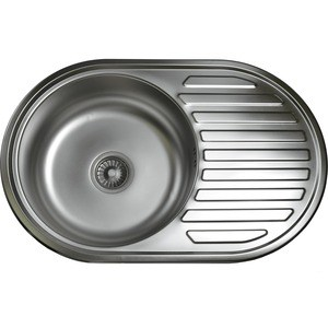 Кухонная мойка Pegas 77х50 0,6 универсальная, матовая (7750W U мт)
