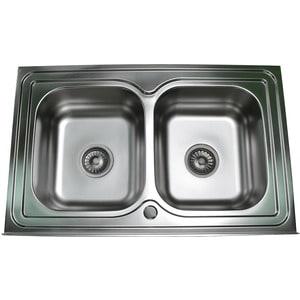 Кухонная мойка Pegas 80х50 0,6 накладная, матовая, двойная (8050W мт) угловая шлифмашина pegas tp 222