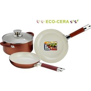 Набор посуды 4 предмета Vitesse (VS-2238 BROWN)