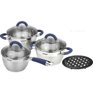 Набор посуды 7 предметов Vitesse Blue Arch (VS-2046) набор посуды vitesse vs 1043