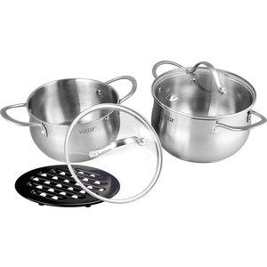 Набор посуды из 5 предметов Vitesse Melanie (VS-2061) набор кухонной посуды vitesse vs 2010 2011 2012