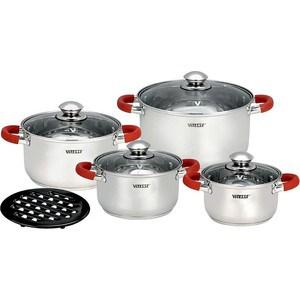 Набор посуды из 9 предметов Vitesse (VS-9017) набор посуды vitesse vs 1043