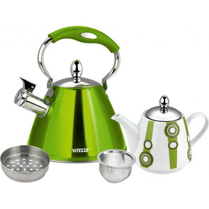 Набор чайников Vitesse (VS-7812 GREEN) набор чайников vitesse vs 7812 green