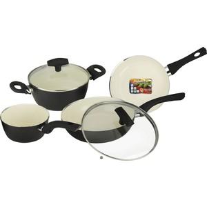 Набор посуды 6 предметов Vitesse Black-and-White (VS-2902)