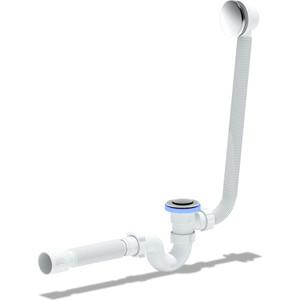 Слив перелив для ванны АНИ пласт полуавтомат с коленом и гофрой 40/50 (EC155)