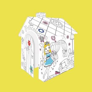 Mochtoys Картонный домик раскраска ''Принцесса''