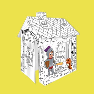 Картонный домик для раскрашивания