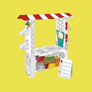 Mochtoys Картонный домик-раскраска ''Супермаркет''